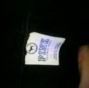 PINK Victoria's Secret Pants - PINK by VS black velour sequin jogging pants X n